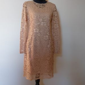 Nanette Lepore Longsleeve Lace Shift Dress